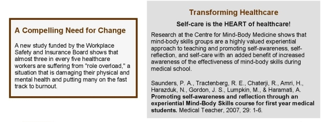 A compelling need for change  - SELF CARE